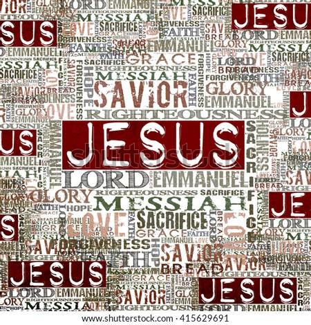 Jesus Religious Background - stock photo