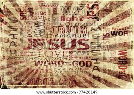 JESUS Religious Grunge Background - stock photo