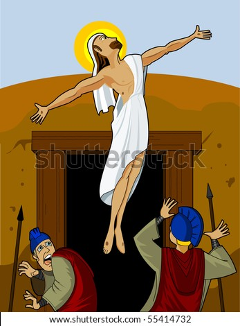 Jesus Rising - stock photo