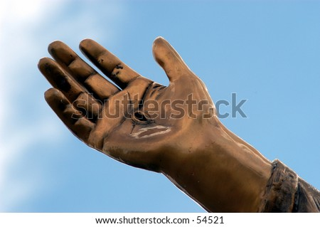 Jesus's hand - stock photo