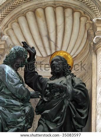 Jesus, sculpture - stock photo