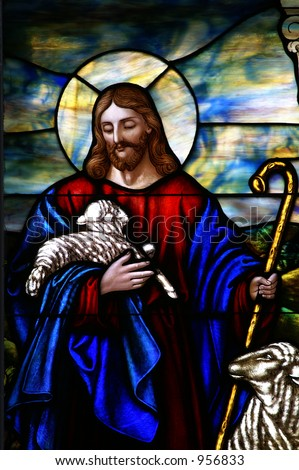 Jesus The Good Shepherd - stock photo