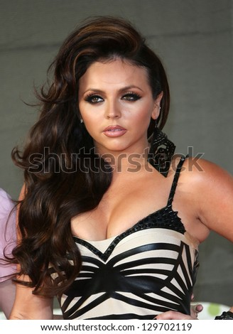 Jesy Nelson of Little Mix arriving for the Brit Awards 2013 at the O2 Arena, Greenwich, London. 20/02/2013 Picture by: Henry Harris - stock photo