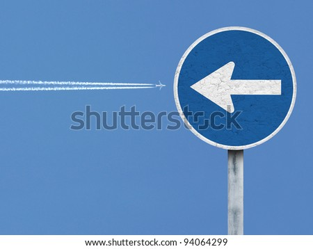 jet against signal - stock photo