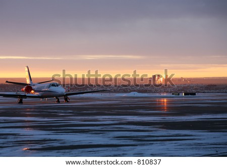 Jet at Sunrise