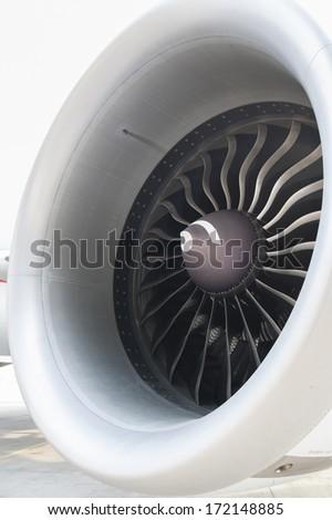 Jet engine - stock photo