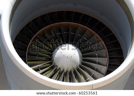 Jet Engine Closeup - stock photo