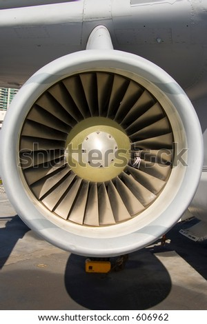 jet engine intake blades (exclusive at shutterstock)