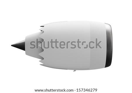 Jet engine side - stock photo