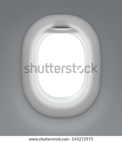 jet interior window - stock photo