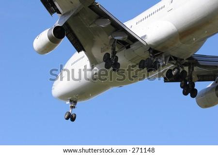 Jet landing - stock photo