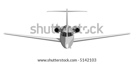 Jet plane front view