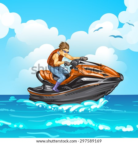 Jet scooter - stock photo