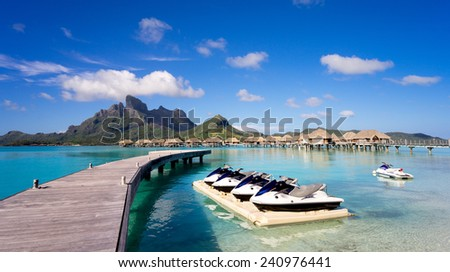 Jet Ski in Bora Bora - stock photo