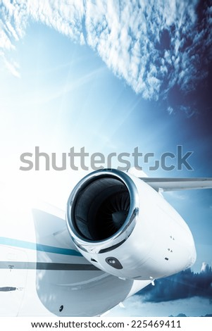 jet turbine, detail - stock photo