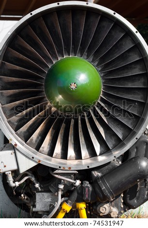 Jet turbine engine - stock photo