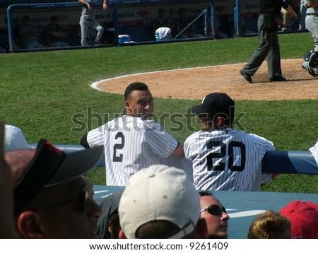 Jeter and Posada - stock photo