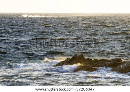 Jetski in Rough Waters - stock photo