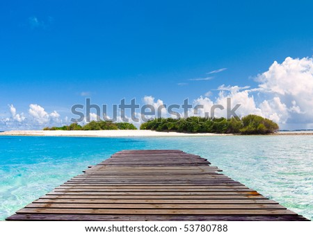 jetty - stock photo