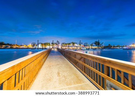 Jetty at sunset, Fort Myers - Florida. - stock photo