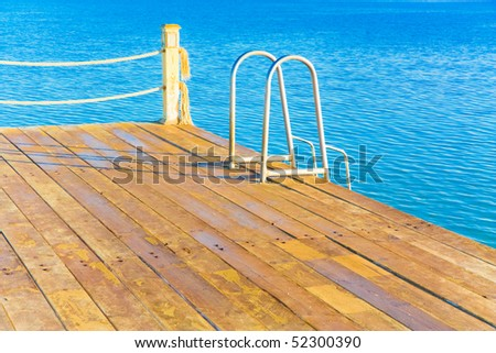 Jetty for diving - stock photo