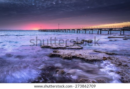 Jetty in Robe, South Australia - stock photo