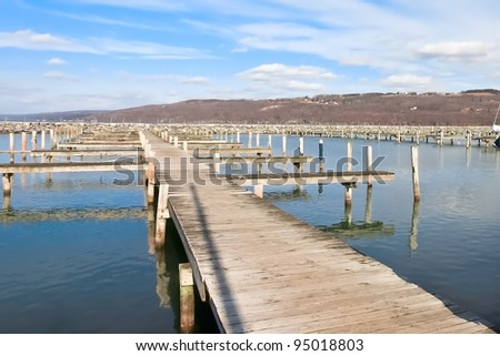 Jetty pier over Waters - stock photo