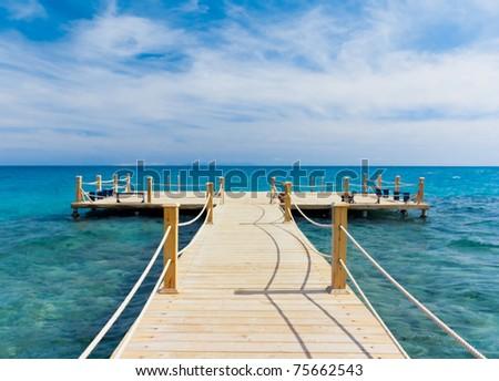 Jetty to Paradise - stock photo