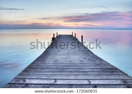jetty to the sky - stock photo