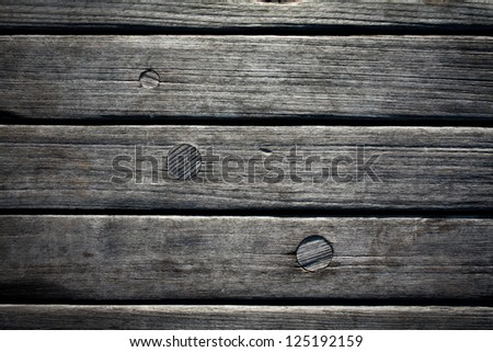 Jetty wood planks - stock photo