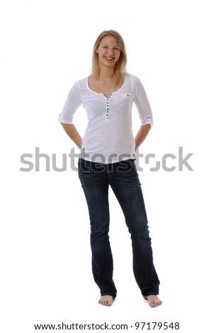 jeune femme blonde - stock photo