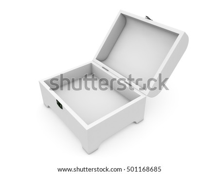 jewel box isolated on white background 3D rendering