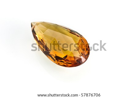 Jewel isolated against a white background - stock photo