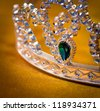 jeweled crown made �¢??�¢??of plastic - stock photo