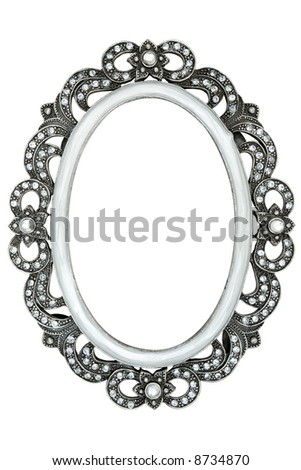 Jeweled Picture Frame - stock photo