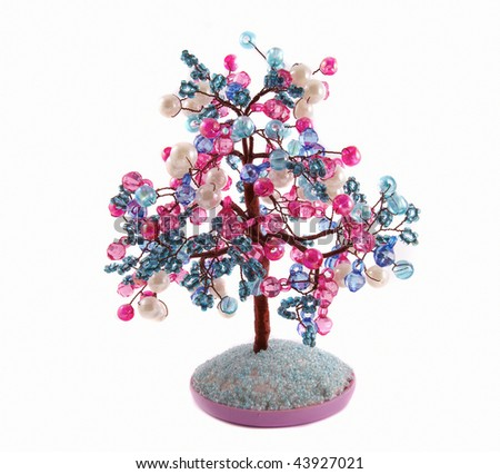 Jeweler tree on a white background