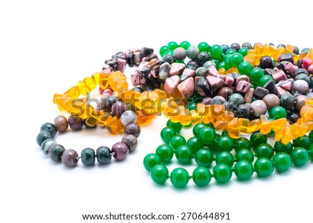 jewelery from gemstones - stock photo