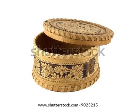 Jewellery Box bark of a tree - stock photo