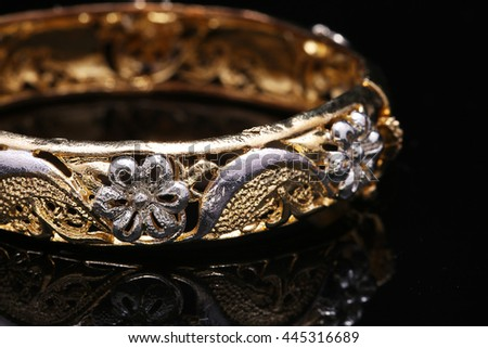 jewellery bracelet, bangles with flower