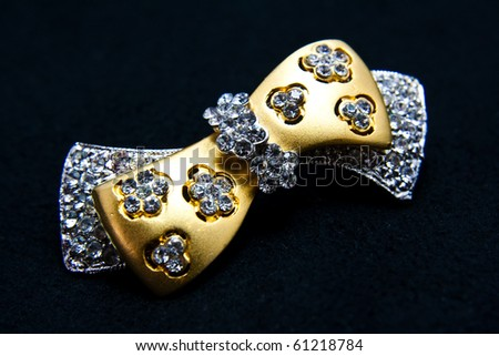 jewellery brooch isolated - stock photo