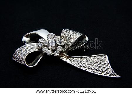 jewellery brooch isolated - stock photo