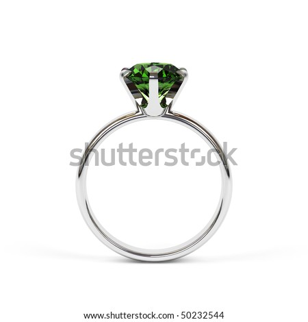 Jewellery ring isolated on a white background. - stock photo