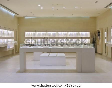 jewellery shop - stock photo