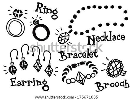 jewelry doodle - stock photo