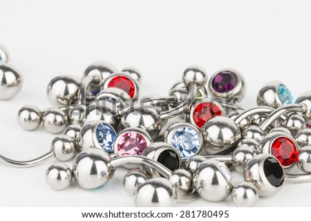 Jewelry for piercing - Stock Image macro.