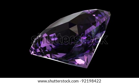 Jewelry gems shape of square on black background