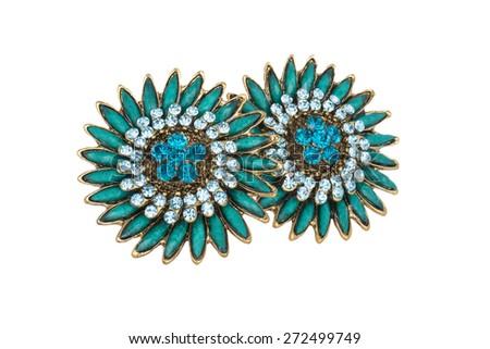jewelry isolated on white - stock photo