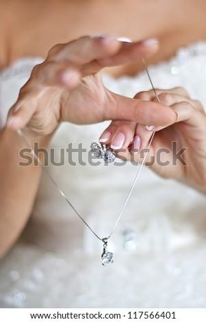jewelry of the bride - stock photo