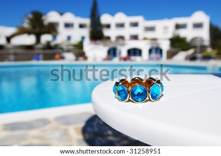 Jewelry on Table - stock photo