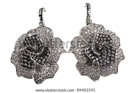 Jewelry on white background - stock photo